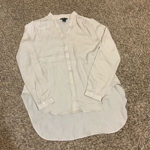 H&M Women's Button up High Low Long Sleeve Blouse